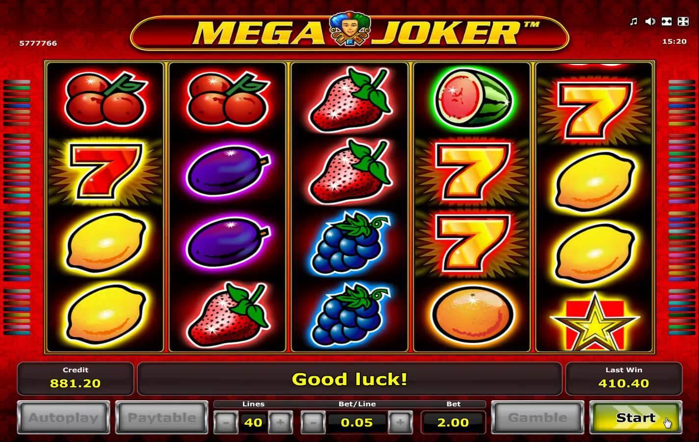 best online casino de mega joker