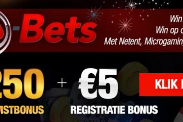 5 euro gratis bij b-Bets online casino!