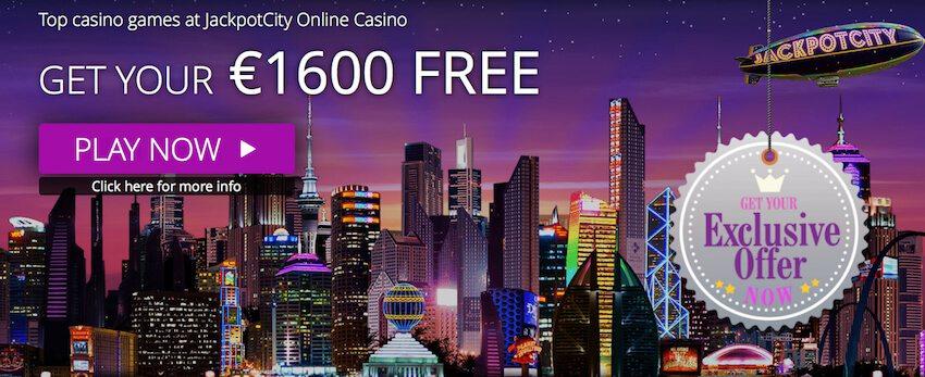 Jackpot City Bonus Banner