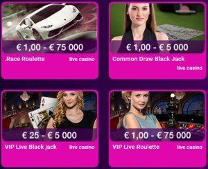 No Bonus live casino