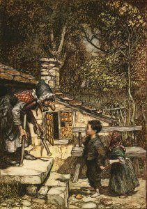 Hansel Gretel Rackham Original Illustration