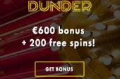 Gratis Spins bij Dunder Online Casino