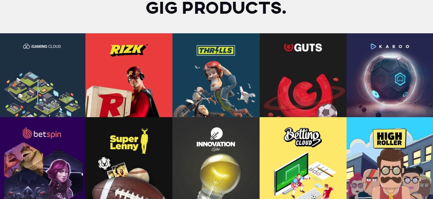GiG Games casino's