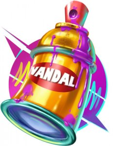 Cash Vandal symbool spraycan
