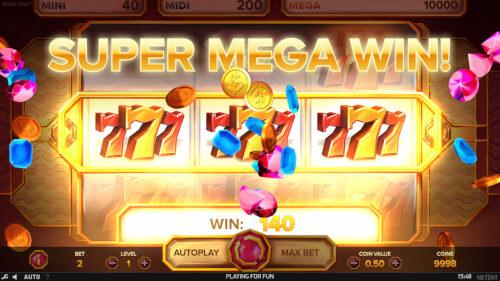 mega big win netent gokkast