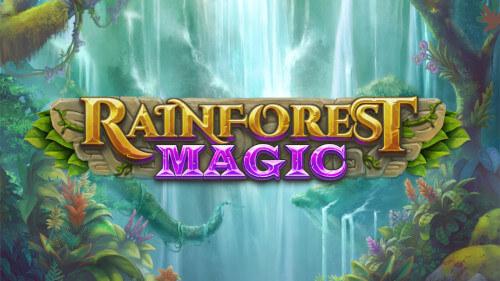 horizontaal logo rainforest magic van playngo