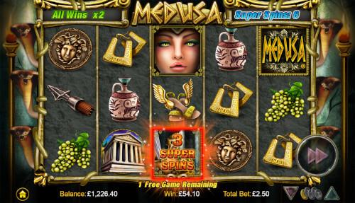 medusa nextgen gokkast free spins screenshot